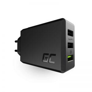 Green Cell ChargeSource 3 - Ładowarka sieciowa 3xUSB 30W Ultra Charge