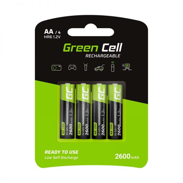 Green Cell - 4x Akumulator AA HR6 2600mAh