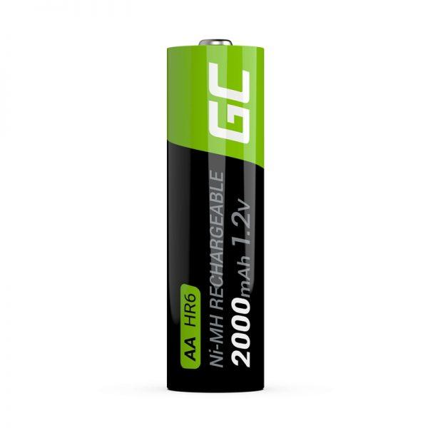 Green Cell - 4x Akumulator AA HR6 2000mAh