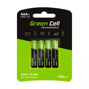 Green Cell - 4x Akumulator AAA HR03 950mAh