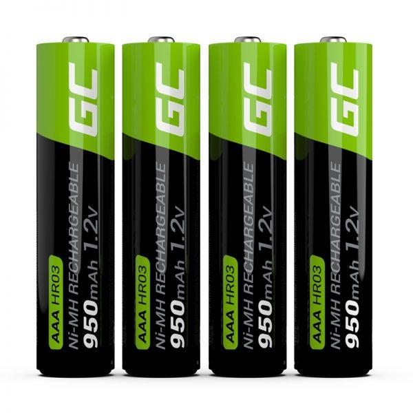 Green Cell - 4x Akumulator AAA HR03 950mAh