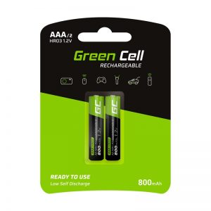 Green Cell - 2x Akumulator AAA HR03 800mAh