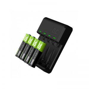 Green Cell VitalCharger - Ładowarka do akumulatorów + 4x Baterie Akumulatorki AA 2000mAh Ni-MH