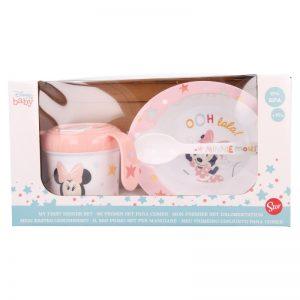 Minnie Mouse - Zestaw naczyń w opakowaniu prezentowym (miska