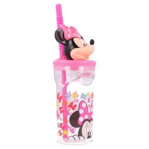 Minnie Mouse - Kubek 3D ze słomką 360 ml