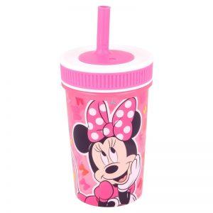 Minnie Mouse - Kubek z silikonową słomką 465 ml