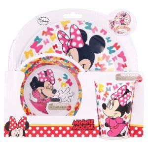 Minnie Mouse - Zestaw naczyń z melaminy (talerz