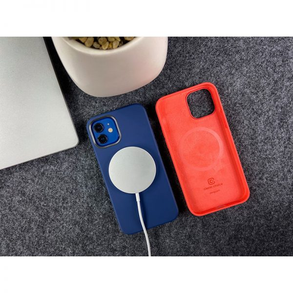 Crong Color Cover Magnetic - Etui iPhone 12 / iPhone 12 Pro MagSafe (granatowy)