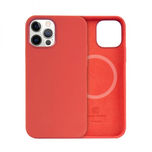 Crong Color Cover Magnetic - Etui iPhone 12 / iPhone 12 Pro MagSafe (czerwony)