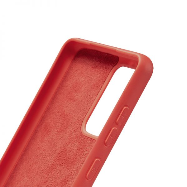 Crong Color Cover - Etui Samsung Galaxy A72 (czerwony)
