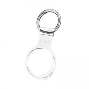 PURO NUDE Case - Silikonowy brelok do Apple AirTag (przezroczysty)