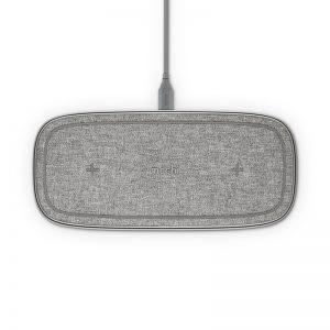 Moshi Sette Q - Podwójna bezprzewodowa ładowarka indukcyjna Qi do iPhone i Android (Nordic Grey)