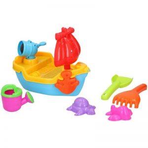 Eddy toys - Zestaw zabawek do piaskownicy 10 el. Statek