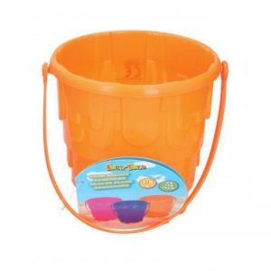 Eddy toys - Wiaderko do piasku Zamek 15cm (Pomarańczowy)