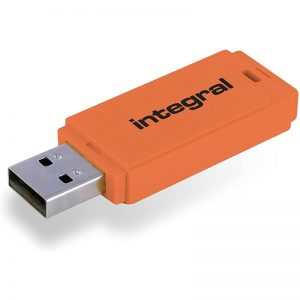 Integral Neon - Pendrive 64GB USB 3.0 (Pomarańczowy)