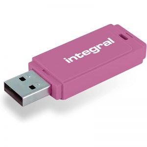 Integral Neon - Pendrive 64GB USB 3.0 (Różowy)