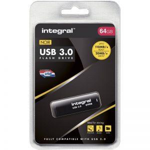 Integral Noir - Pendrive 64GB USB 3.0 (Czarny)