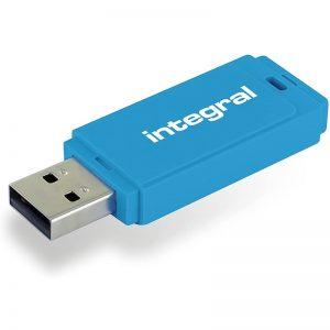 Integral Neon - Pendrive 128GB USB 2.0 (Niebieski)
