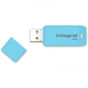 Integral Pastel - Pendrive 64GB USB 2.0 (Błękitny)