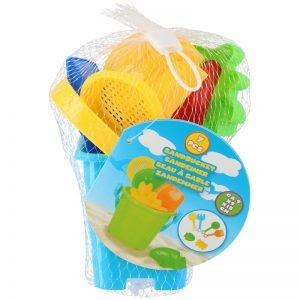 Eddy toys - Zestaw wiaderko + foremki do piasku (Niebiesko-żółty)