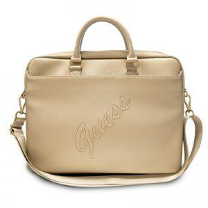 "Guess Saffiano Script Computer Bag – Torba na notebooka 15"" (złoty)"