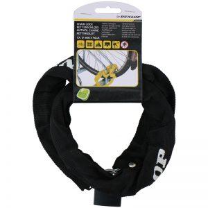Dunlop - Antykradzieżowe zapięcie rowerowe 90 cm (Czarny)