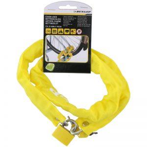 Dunlop - Antykradzieżowe zapięcie rowerowe 90 cm (Żółty)