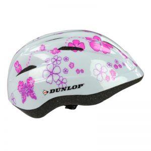 Dunlop - Kask dziecięcy (różowe kwiatki)