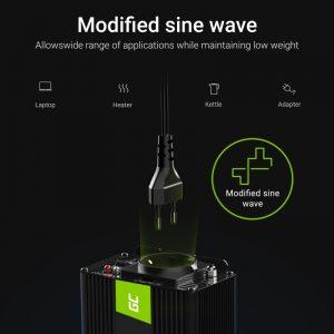 Green Cell - Przetwornica napięcia Inwerter 12V na 230V 150W/300W Modyfikowana sinusoida