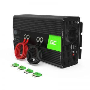 Green Cell - Przetwornica napięcia Inwerter 12V na 230V 1000W/2000W Modyfikowana sinusoida
