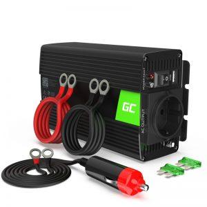 Green Cell - Przetwornica napięcia Inwerter 12V na 230V 500W/1000W Czysta sinusoida