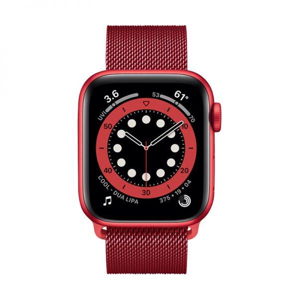 Crong Milano Steel – Pasek ze stali nierdzewnej do Apple Watch 38/40 mm (czerwony)