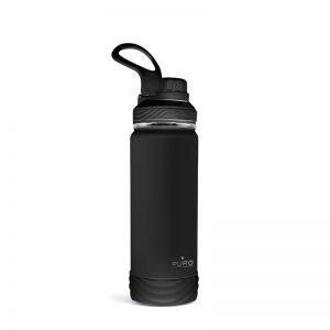 PURO Outdoor - Butelka termiczna ze stali nierdzewnej 500 ml (Black)
