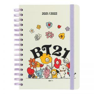 Line Friends BT21 - Kalendarz / Planner szkolny 2021/2022 (biały)
