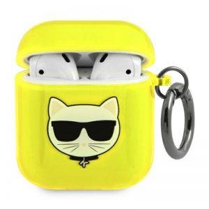 Karl Lagerfeld Choupette Head - Etui Airpods (fluo żółty)