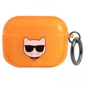 Karl Lagerfeld Choupette Head - Etui Airpods Pro (fluo pomarańczowy)