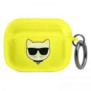 Karl Lagerfeld Choupette Head - Etui Airpods Pro (fluo żołty)