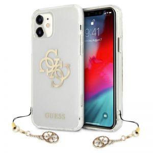 Guess 4G Big Logo Charm - Etui iPhone 11 (złoty charms)