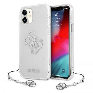 Guess 4G Big Logo Charm - Etui iPhone 11 (srebrny charms)
