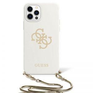 Guess 4G Big Logo Chain - Etui iPhone 12 / iPhone 12 Pro (biały)